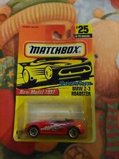 Matchbox 1997 Super Fast #25 New Model Bmw Z-3 Roadster red Moc Tyco Toys Mb297