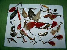 Vintage Fishing Feathered Spinner lures
