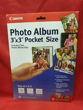 "BRAND NEW Genuine CANON Photo Album 3""x3"" Pocket Size 2 Easy to Use Kits"