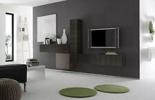 Parete attrezzata moderna di design, Rovere Wenghè e Peltro Opaco - 327x169 cm