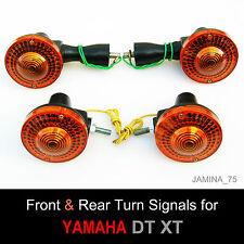Yamaha XT250 XT500 XT DT Front & Rear Turn Signal Blinker Winker Indicator Set 4