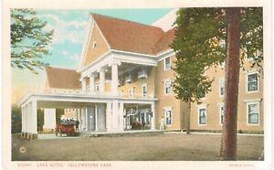 Haynes Yellowstone Lake Hotel Entrance Unused 1930 National Parks