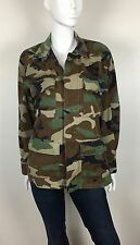 American Apparel Men's Jacket Camouflage Print 4 Pockets Army Green Size Small