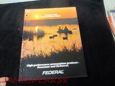 1984 FEDERAL AMMUNITION GUIDE CATALOG Shotgun Shells Cartridges Rim Center Fire