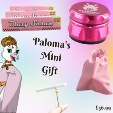 More details for pink smoker's giftset for girls -  samurai grinder, j ring & blazy susan papers
