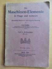 Fachbuch 1908 Maschinen-Elemente Zahnräder Stirnräder Grants Odontograph Flanke