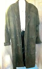 Her med.  ADVENTURE BOUND (my favorite) , by Wilson's ; green leather trenchcoat