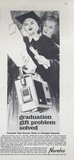 1964 Norelco Cordless Portable Tape Recorder  PRINT AD Graduation theme