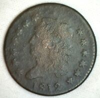 1812 Classic Head Copper Large Cent Early Penny Type Coin Sheldon S 288 Good 1c