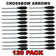 120 Aluminum Metal Bolts Arrows For 50 & 80 Lb Crossbow Archery - Grey