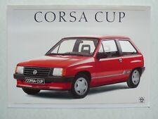 Prospekt opel corsa a Cup, 2.1987, 2 páginas