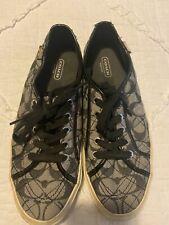 Womens Coach Tennis shoes Gray/Black Logo Size 9