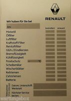 1x Serviceaufkleber Wartungsdiagnose Original Renault
