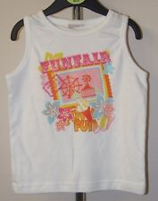 Girls - white funfair  t shirt  - age 3 - 4 years - new without tags