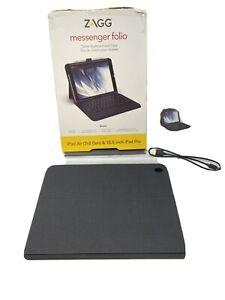 "ZAGG Messenger Folio Tablet Keyboard Case for iPad Air 3rd Gen & 10.5"" iPad Pro"