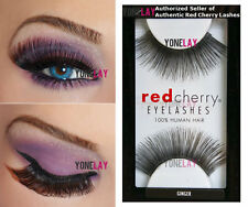 Lot 3 Pairs Genuine RED CHERRY #80 Ginger False Eyelashes Human Hair Lash Lashes