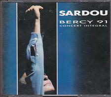 COFFRET 2 CD 25T MICHEL SARDOU BERCY 91 CONCERT INTÉGRAL DANS GROS BOITIER 1991