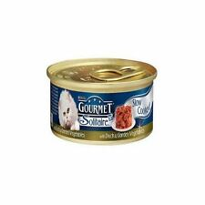 Gourmet Solitaire Cat Food with Duck and Vegetables  Tin (85g) (Pack of 6)