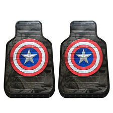New Plasticolor Captain America Car Truck All Weather Rubber Front Floor Mats
