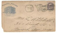 "1899 Toronto Die ""C"" Flag Cxl Cover - Walker House Advertising CC to New Jersey"