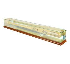Glass Baseball Bat Display Case Uv Protection Walnut Wood And Mirror Back
