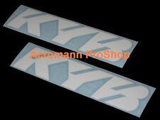 """2x 12""""30.5cm KYB shock decal sticker Kayaba Kawasaki Yamaha Suzuki car vinyl JDM"""