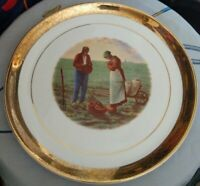 The Angelus 10 inch Plate featuring painting by Jean Francois Millet 1814-1875