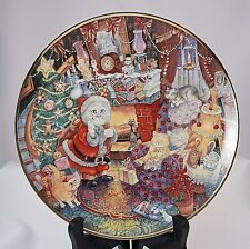 Not a Creature Was Purring Bill Bell Franklin Mint Heirloom Cat Porcelain Plate