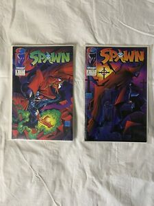 Spawn Comics First Issue #1 And #2 1992 NM Condition