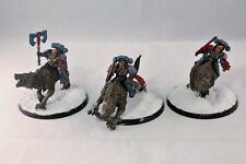 Warhammer Space Marine Space Wolves Thunderwolf Cavalry Well Painted