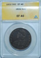 1832 ANACS XF40 Small Letters Capped Bust Half Dollar