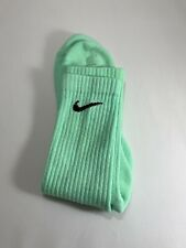NEW Mint Green Hand Dyed Coloured Nike socks size 8-11 vintage  tie-dye retro