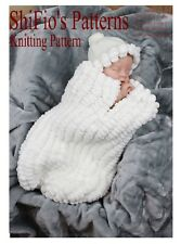KNITTING PATTERN for BABY COCOON PAPOOSE in Rico yarn #203 NOT CLOTHES