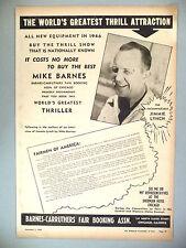 Jimmie Lynch, Greatest Thriller PRINT AD - 1945 ~~ Thrill Show