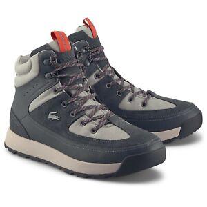 Lacoste Men's Grey Urban Breaker Leather Boots - BREAKER 319 1 CMA