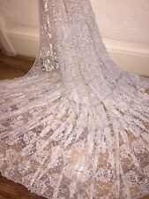 "25 MTR CHAMPAGNE LACE NET LYCRA STRETCH FABRIC...60"" WIDE £50 SPECIAL OFFER"