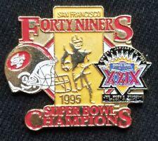 Vintage SUPER BOWL XXIX  49ER'S Champs HAT TIE LAPEL footbal PIN  NFL LICENSED