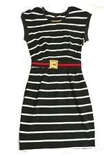 Logo neckline  Striped G logo red and green trim  Belted Dress