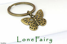 Bronze Butterfly Metal Keyring Key Chain Animals & Insects