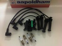 FORD MONDEO MK3 1.8 2.0 PETROL DURATEC NEW IGNITION COIL SPARK PLUGS & HT LEADS