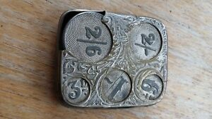 Edwardian Silver Plated coin holder c.1900