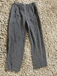Wallis Flat Fronted Bobble Boucle Smart Office Wear Trousers Size 10
