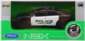 WELLY 2016 DODGE CHARGER R/T POLICE 1:34 DIE CAST METAL MODEL NEW IN BOX