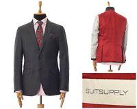 Mens SUITSUPPLY Blazer Coat Tailored Jacket Wool Grey Size 40 50