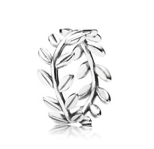 Pandora S925 Ale Authentic 190922 Laurel Wreath wide Statement ring +Bag NEW