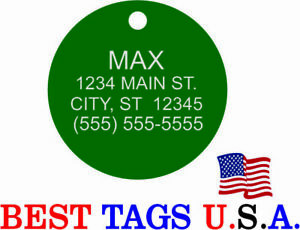 Custom Engraved Pet ID Tags Dogs Cats Made in USA BEST Tags from $2.86!