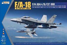 Kinetic 1:48 McDonnell-Douglas F/A-18A + /B/CF-188 Plastic Model Kit #K48030