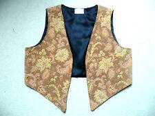 HANDMADE UNISEX BROCADE EDGE-T0-EDGE WESKIT (waistcoat) Autumn Leaves 36