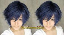 COSPLAY WIG New Short Dark Blue Wig