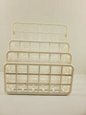 Vintage Designed By Yaffa Office Desk Organizer White 3 Section
